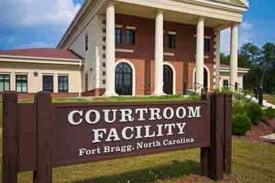 Courtroom Building in Fort Bragg North Carolina